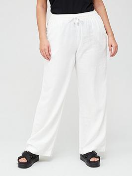 V by Very Curve V By Very Curve Linen Blend Trouser Picture