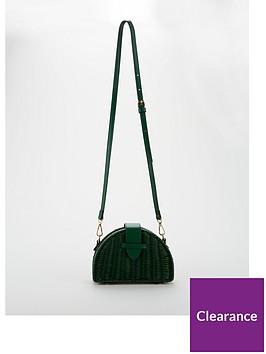 v-by-very-prince-half-moon-raffia-crossbody-green