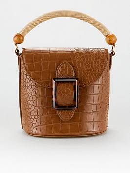 V by Very V By Very Feature Handle Crossbody Bag - Tan Picture