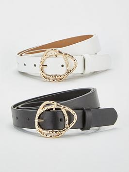 V by Very V By Very Organic Buckle Belt (2 Pack) - Multi Picture
