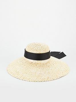 V by Very V By Very Wide Brim Straw Hat - Natural Picture