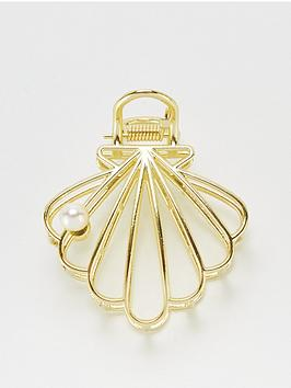 V by Very V By Very Shell Hair Clip - Gold Tone Picture