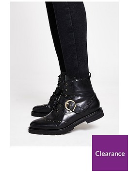 river-island-leather-studded-buckle-boot-black
