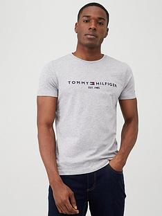 tommy-hilfiger-core-logo-t-shirt-grey