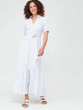 V by Very V By Very Asymmetrical Hem Maxi Dress - Stripe Picture