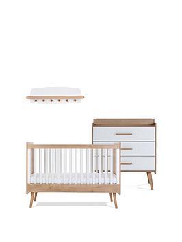 Silver Cross Silver Cross West Port Cot Bed , Dresser & Wall Shelf Picture