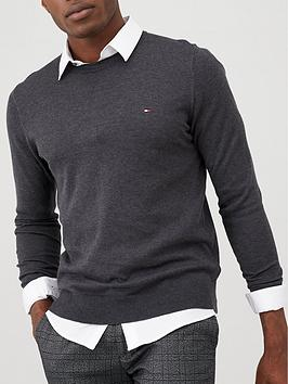 Tommy Hilfiger Tommy Hilfiger Core Crew Neck Jumper - Charcoal Picture