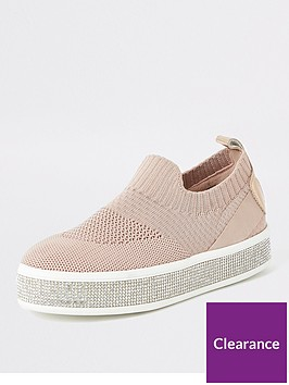 river-island-girls-diamante-knitted-trainersnbsp--pink