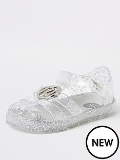 river-island-mini-mini-girls-ri-jelly-sandal-glitter