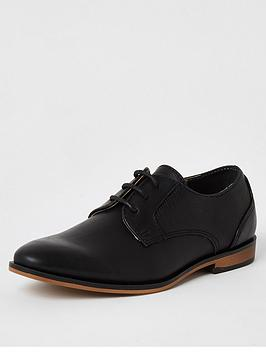 River Island River Island Boys Lace Up Pointed Toe Shoe - Black Picture