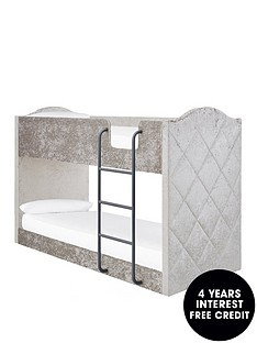 mandarin-fabricnbspbunk-bed-with-mattress-options-buy-and-savenbsp--grey-silver