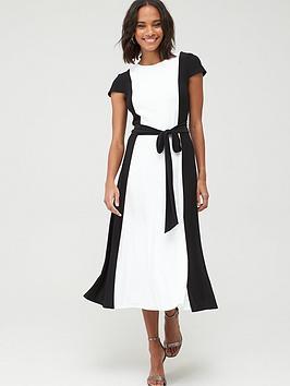 lauren-by-ralph-lauren-murila-cap-sleeve-day-dress-blackwhite