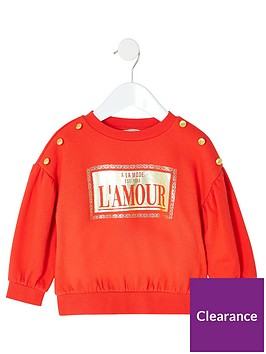 river-island-mini-mini-girls-foil-print-sweatshirt-red