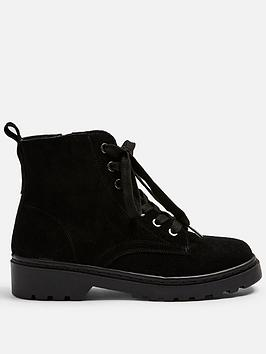 Topshop Topshop Bumble Lace Up Boots - Black Picture