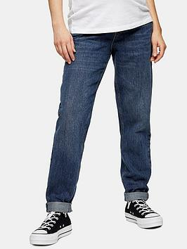Topshop Topshop Maternity Mom Jeans - Blue Picture