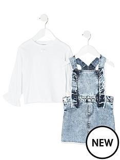 river-island-mini-mini-girls-denim-pinafore-dress-and-tshirt-blue