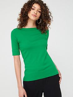 lauren-by-ralph-lauren-judy-elbow-sleeve-t-shirt-green