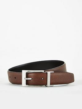 Ted Baker Ted Baker Reversible Leather Belt - Black/Chocolate Picture