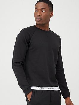 Calvin Klein Calvin Klein Modern Cotton Crew Lounge Top - Black Picture