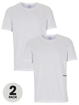Calvin Klein   2 Pack Of Statement 1981 Slim Fit T-Shirts - White