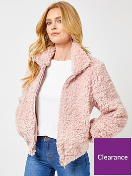 dorothy-perkins-teddy-jacket-pink