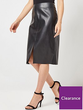 dorothy-perkins-pu-midi-skirt-black