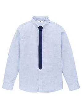 V by Very V By Very Boys Long Sleeve Shirt &Amp; Tie Set - Blue Picture