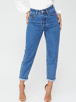 V by Very V By Very Mom Vintage Jeans - Mid Wash Picture