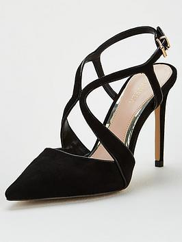 Carvela Carvela Kraft Cross Strap Heeled Shoe - Black Picture