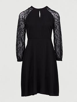 Dorothy Perkins Dorothy Perkins Lace Midi Dress - Black Picture