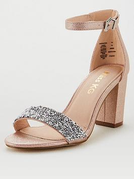 Miss KG Miss Kg Cadey Bling Block Heel Sandal - Pale Pink Picture