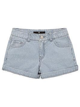 V by Very V By Very Girls Stripe Denim Shorts - Stripe Picture