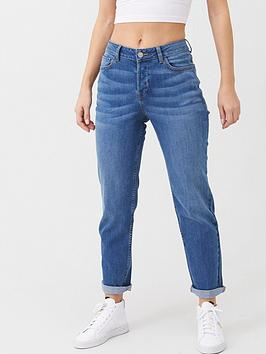 V by Very V By Very The New Taylor Boyfriend Turn Up Jean - Mid Wash Picture