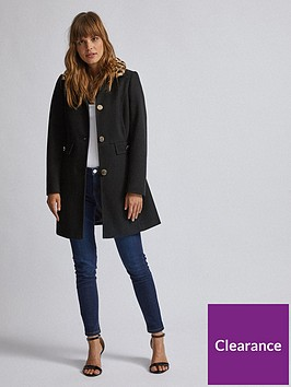 dorothy-perkins-dorothy-perkins-animal-print-faux-fur-collar-coat-black