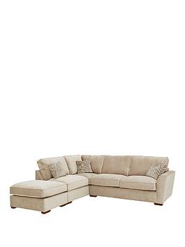 Very Kingston Fabric Left Hand Standard Back Corner Chaise Sofa With  ... Picture