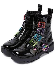 kickers-kizziie-x-confetti-crowd-higher-buckle-vegan-ankle-boots-black