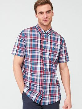 V by Very V By Very Checked Short Sleeved Shirt - Red &Amp; Blue Picture