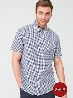 v-by-very-gingham-check-short-sleeved-shirt-navy