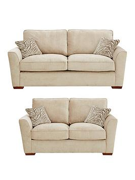 Very Kingston Fabric 3 Seater + 2 Seater Standard Back Sofa Set (Buy And  ... Picture