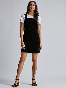 Dorothy Perkins Dorothy Perkins Cord Pinny - Black Picture