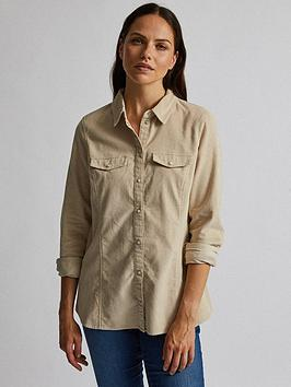 Dorothy Perkins Dorothy Perkins Cord Shirt - Stone Picture