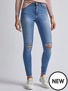 dorothy-perkins-ripped-alex-jeans-blue