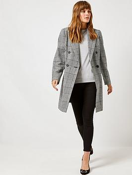Dorothy Perkins Dorothy Perkins Dorothy Perkins Check Double Breasted Coat  ... Picture