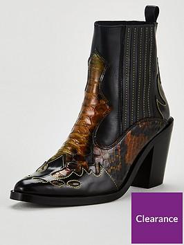 kurt-geiger-london-damen-ankle-boots-multi