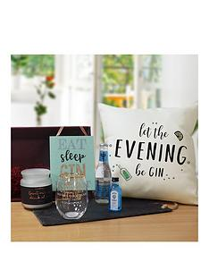 gin-hamper-with-personalised-tumbler-hanging-plauqe-and-candle