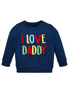 v-by-very-i-love-daddy-textured-detail-sweatshirt-navy