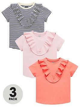 V by Very V By Very Girls 3 Pack Ruffle T-Shirts - Multi Picture