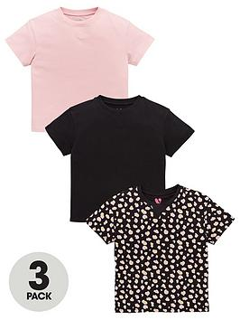 V by Very V By Very Girls 3 Pack Boxy T-Shirts - Multi Picture