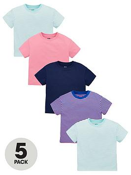 V by Very V By Very Girls 5 Pack T-Shirts - Multi Picture