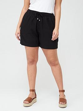 V by Very Curve V By Very Curve Linen Blend Short - Black Picture